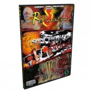 "CZW DVD September 7, 2002 ""Jersey Reinvasion"" - Vineland, NJ, September 28, 2002 ""Sanctioned in Blood"" & October 26, 2002 ""Havoc In Helaware"" - Dover, DE"