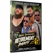 "H2O Wrestling DVD October 25, 2020 ""Matt Tremont's Retirement Party"" - Williamstown, NJ"