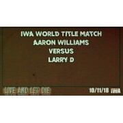 """IWA Mid-South September 29, October 5 & 11, 2018 """"Autumn 2018 Tripleheader"""" - Jeffersonville, IN (Download)"""