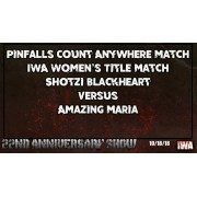 """IWA Mid-South October 18, 2018 """"22nd Anniversary Show"""" - Jeffersonville, IN (Download)"""