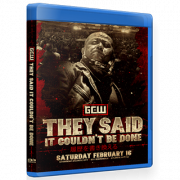"GCW Blu-ray/DVD February 16, 2019 ""They Said It Couldn't B Done"" - Atlantic City, NJ"