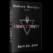 "Unholy Warfare DVD April 20, 2019 ""Unholy Trinity"" - Reidsville, NC"